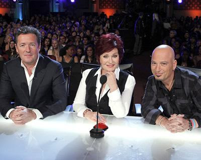 Sharon Osbourne , Howie Mandel and Piers Morgan