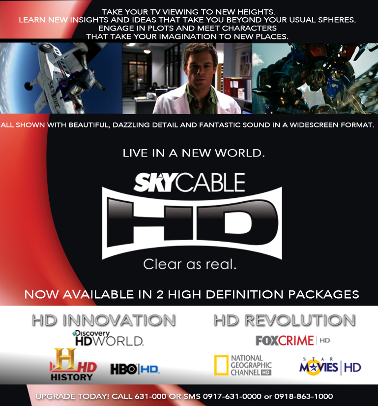 SKYcable offers more HD channels Entertainment, News, The