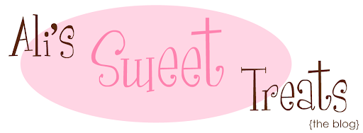 Ali's Sweet Treats Blog