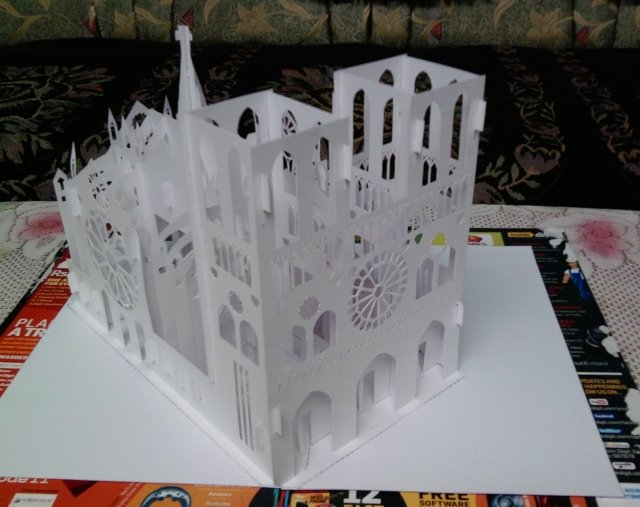 My world my feelings september 2010 and here is the picture for the complete notre dame cathedral kirigami popup card fandeluxe Image collections