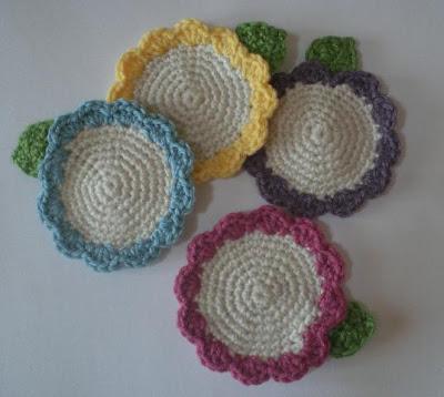 Crochet Cute: Free Pattern - Crocheted Flower Coasters