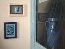 dettagli camera blu