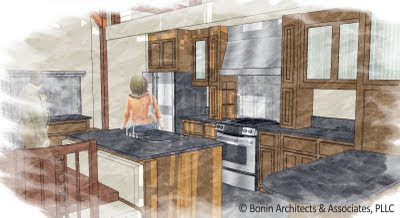 Kitchen Design Layouts on Post And Beam   Timber Frame Blog  Kitchen Design Layout