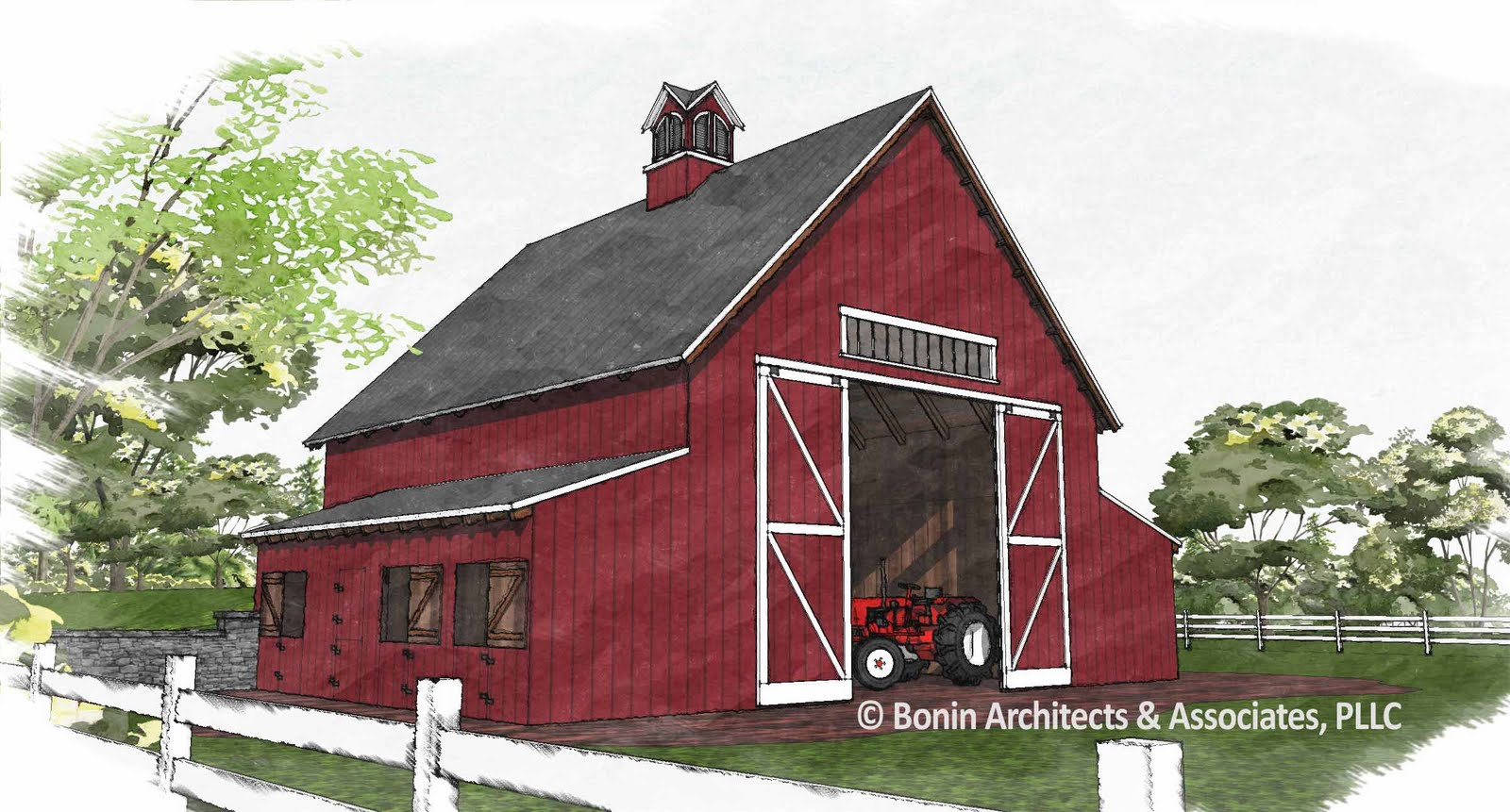 Post and beam timber frame blog timber frame barn for Barn plans