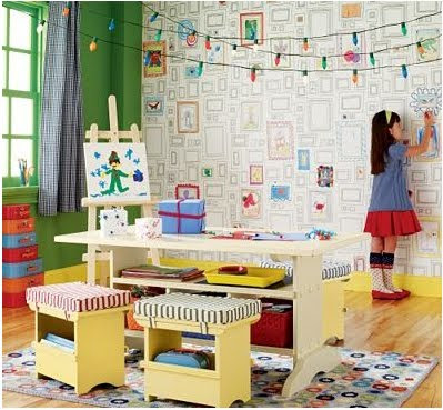 space for inspiration mixed kids rooms. Black Bedroom Furniture Sets. Home Design Ideas
