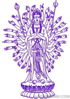 Unusual embroidery designs: Buddha Avalokitesvara machine ...
