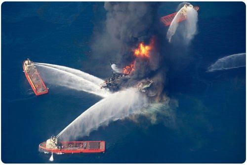 Derrama de petróleo Golfo de México Costa de Louisiana