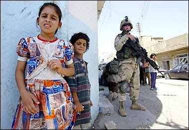 Fotografías de niños en la Guerra de Irak
