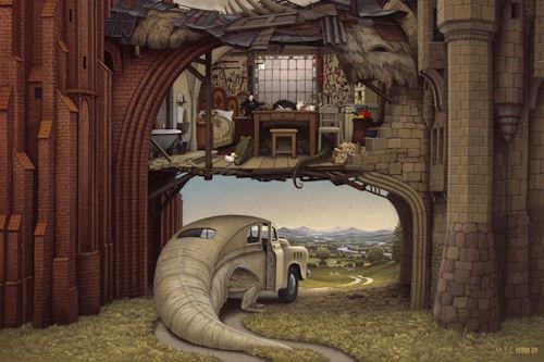 17 pinturas digitales by Jacek Yerka (Surreal Painting)