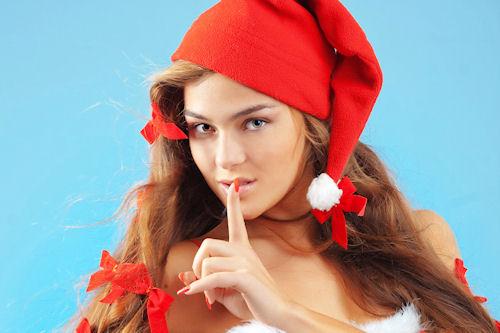 25 fotografías de chicas santa claus muy navideñas