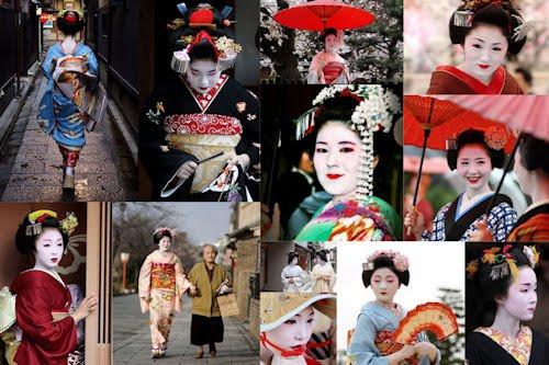 Fotografías e imágenes de Geishas III (Mujeres y Kimonos)