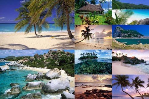 Playas paradisiacas XV (10 postales del mar azul)