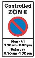 a Controlled Parking Zone sign