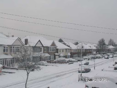 snow scene in Barkingside