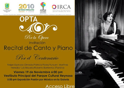 OPTA POR LA PERA RECITAL DE CANTO Y PIANO