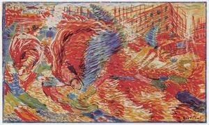 Umberto Boccioni, Η Πόλη ξεσηκώνεται(1910)