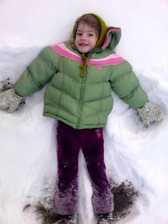 My little snow angel Cora!