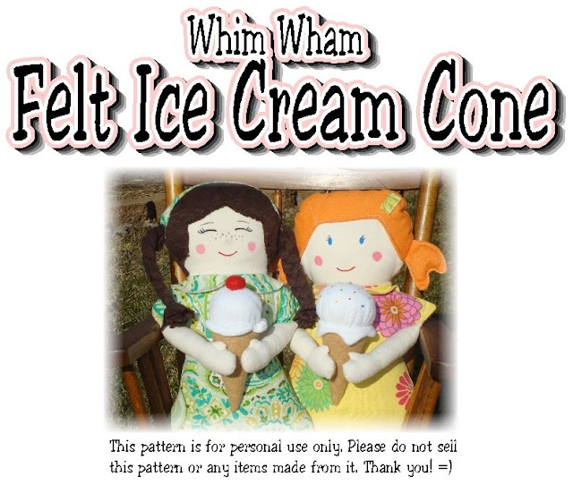 dolls holding felt ice cream cones