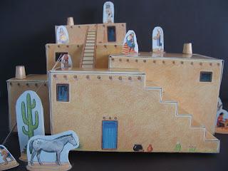 Indie Teach Pueblo Paper Model Project