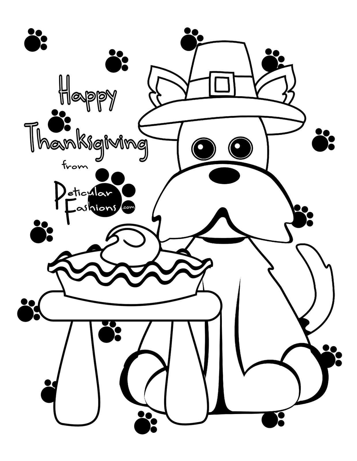 dog thanksgiving coloring pages - photo#30