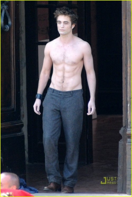robert pattisons abs new moon