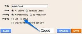 cloud tag blogger