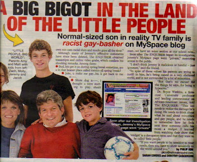 ... In The Land of the Little People in their September 1st, 2008 issue.