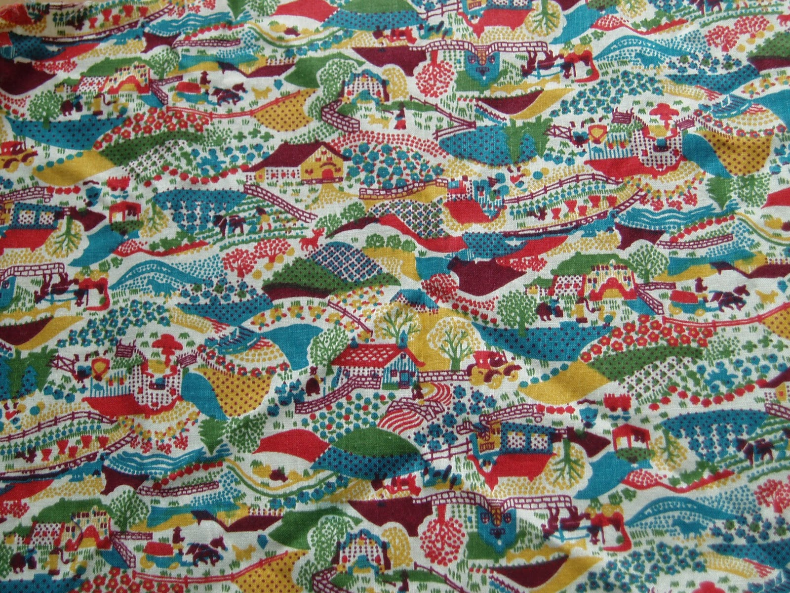 A textile a day vintage fabric 3 for Vintage fabric