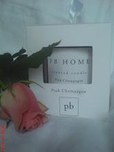 Den här ljusen med ljuvligt doft av Pink Champagne vann jag hos NO 47