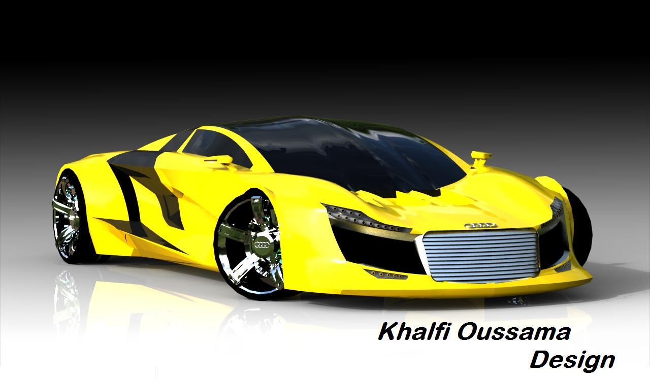 khalfi oussama design: my audi R10 concept