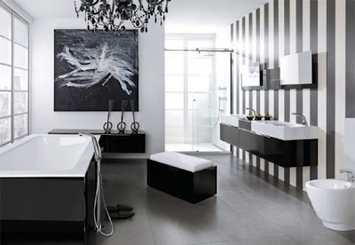 Bathroom Design on Office Decorating Ideas  Modern Black And White Bathroom Design Ideas