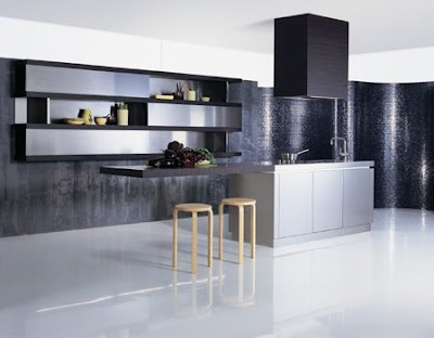 Beautiful-Minimalist-Kitchen-Island-Design-with-Brown-and-Stainless-Steel-Cabinets-and-Shelves-Island-with-Bar-with-Stools