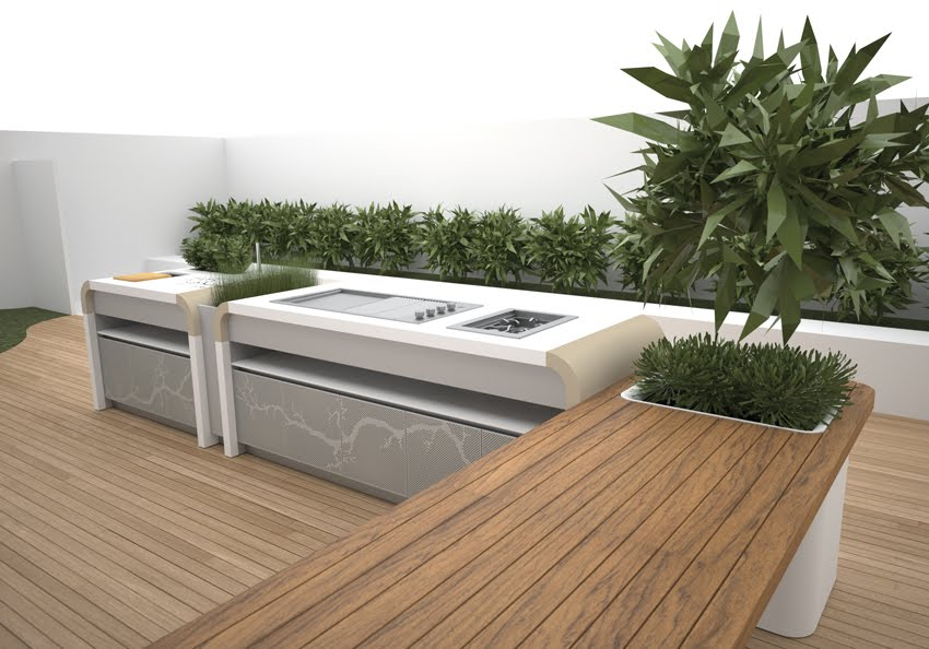 Future House Design Electrolux Modern Outdoor Kitchen By Landscape