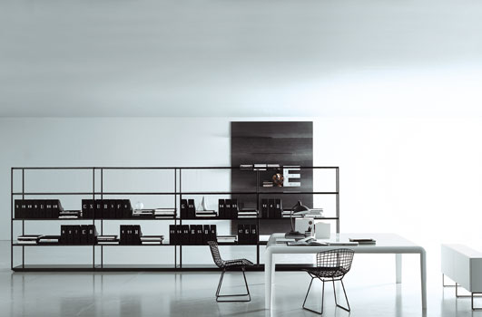 contemporary black and white home office furniture design