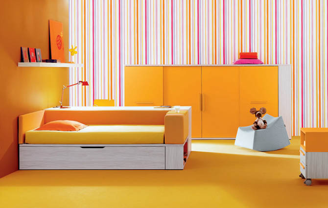 fashion yellow kids room decoration