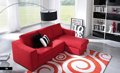 Contemporary Red Sofa Set Designs