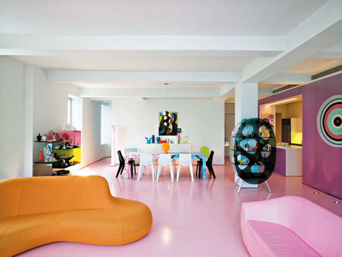 minimalist apartment decorating ideas designed by karim rashid
