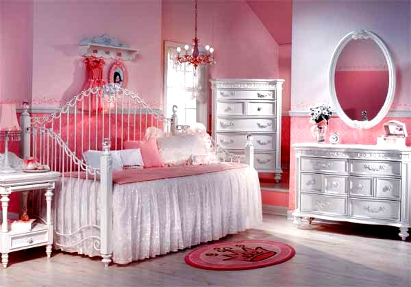 interior decorating  pink kids bedroom furniture design ideas