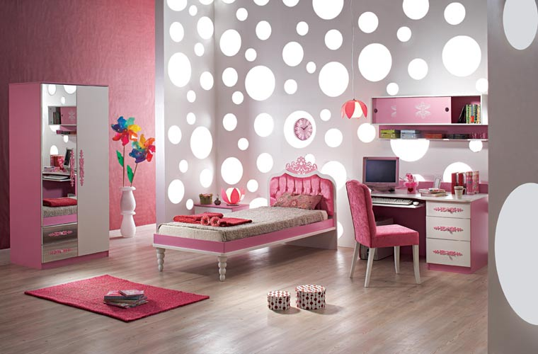 youth bedroom on Home Office Decorating Ideas  Pink Kids Bedroom Furniture Design Ideas
