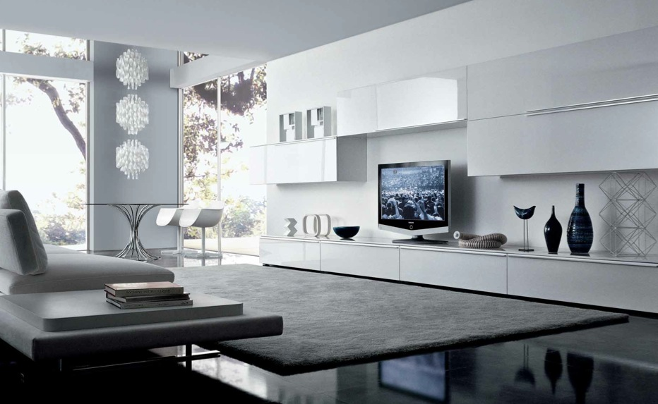 Modern minimalist living room design from misuraemme for White minimalist living room