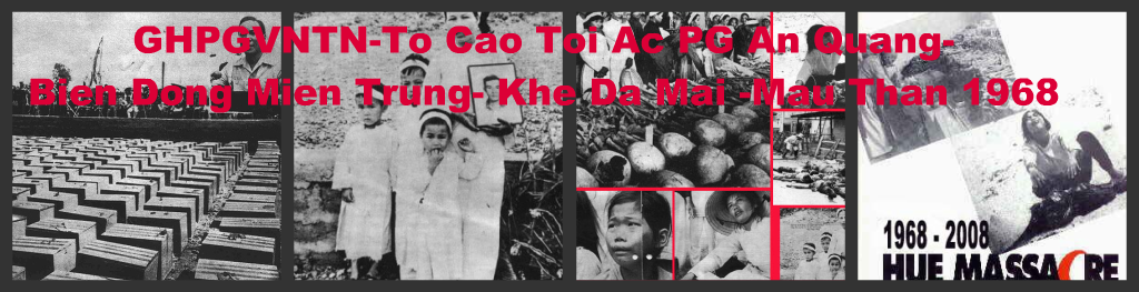 GHPGVNTN- Toi Ac Phat Giao An Quang-Mau Than1968 - Khe Da Mai