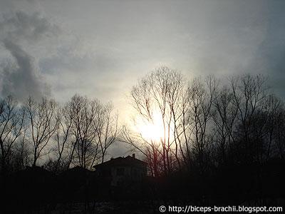 Winter sunset - Last sunlight of one February day (2007) in Vratnica