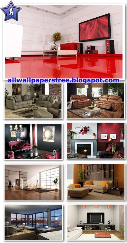 20 Beautiful Living Rooms Wallpapers 1920 X 1200 [Set 8]