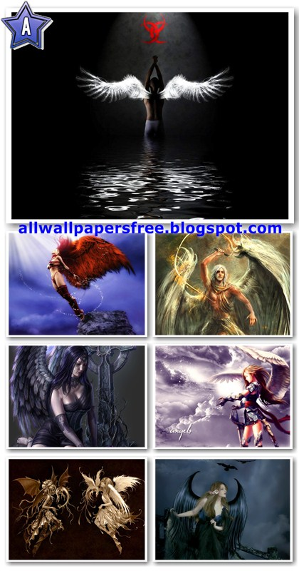 80 Digital Art Angels Wallpapers 1024 x 768