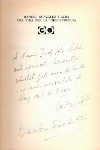 Dedicatoria de Victor Castells