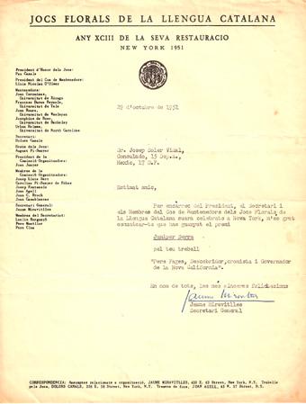 Jocs Florals de la Llengua Catalana (Nova York 1951)