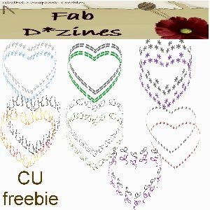 Valentine Embellishments - By: FabD*zines Open+hearts