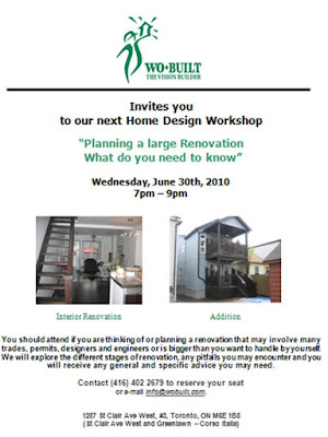 Flyer: Wo-Built Home Design Workshop Planning a large renovation