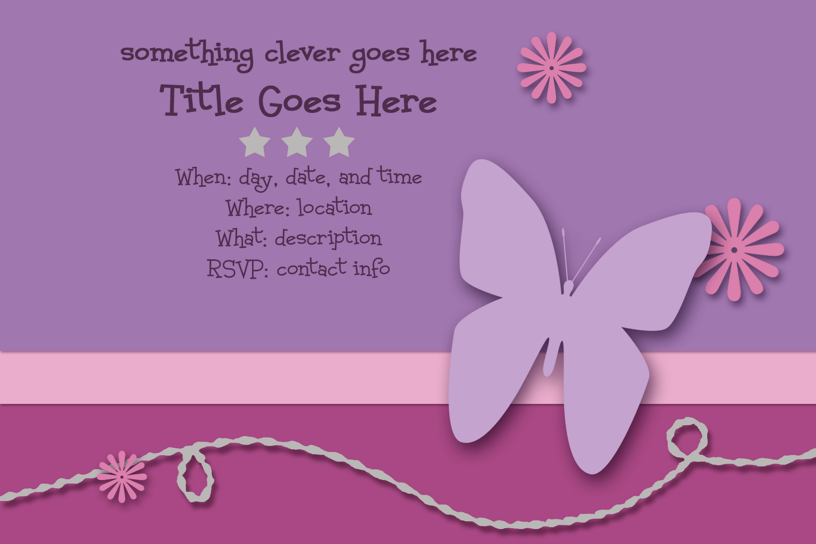 Scrappers Delight: FREE invitation templates