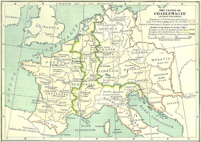 Franská ríša podľa zdroja z roku 1900